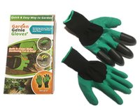 Wholesale Garden Genie Gloves With Fingertips Claws Green Dig and Plant Safe Pruning Gloves Garden Waterproof Digging Gloves