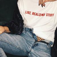 coisas senhoras venda por atacado-Verão Kylie Jenner Mulheres T-Shirt Harajuku Letra COMO REALIZAR COISAS Tops Tee 100% Algodão Camiseta Casual Lady Girl Instagram