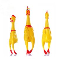Wholesale squeaking toy resale online - Funny Dog Toys Rooster Crows Attract Puppy Dog and Cat Pet Squeak Toys Screaming Rubber Chicken cn Freeshipping