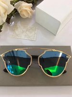 Wholesale Real Silver Coat - So Real Fashion Round Sunglasses Women Brand Deisnger Three Color Lens Summer Style Coating Mirror Lens Sunglasses Fashion Women Style