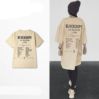 Kanye West Casual T Shirt Uomini Cachi Lettera stampata Top Uomo Magliette Hip Hop Streetwear T-Shirt Homme Tees