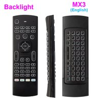 Wholesale Ir Backlight - Newest MX3 Air Mouse Backlight MX3 Wireless Keyboard 2.4G Remote Control IR Learning Fly Air Mouse Backlit For Android TV Box PC