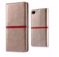 carteira de couro do smartphone venda por atacado-PU Leather Cell Phone Cover Magnética Smartphone Carteira Flip Case com slot para cartão de crédito Slot para Vivo y51