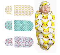 Wholesale Plain Baby Towels - Headband Hats Floral Newborn Blanket Baby Swaddle Baby Bath Towel Photo Prop Blankets Multi Functions Baby Wrap 20 Styles DHL Free Shipping