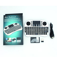 Wholesale Rf Wireless Mouse Keyboard - With Battery i8 Mini Wireless Keyboard RF 2.4G Mouse Touchpad Handheld Keyboard for Multimedia Gaming PC Android TV Windows X-BOX Player