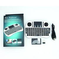 mini multimedya pc toptan satış-Pil ile i8 Mini Kablosuz Klavye RF 2.4G Fare Touchpad El Klavye Multimedya Oyun PC Android TV için Windows X-BOX Oyuncu