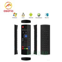 Wholesale Gyroscope Axis - MX3 2.4GHz Fly Air Mouse Mini Keyboard Wireless Remote Controller 6-Axis Gyroscope Gamepad For MXQ Pro M8S Plus T95 X6 TV BOX