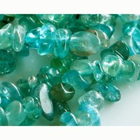 blue chip discount - Natural Blue Apatite Jewellery Chip Nugget Beads Great Discount for