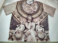 Wholesale Sublimation Clothes - Real USA Size custom made Lavish Louvre (Grey Scale) 3D Sublimation print T-Shirt unisex clothing