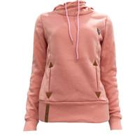 ince hoody sweatshirt toptan satış-Yeni Moda Kadınlar Hoody Uzun Kollu Slim Fit Jumper Hoodies Kazak Ceket Hoodie Eşofman Kazak Tops