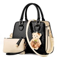 Wholesale trend big bags - Wholesale-2016 Hot sale The new trend of big-name fashion quality PU leather handbag two sets of candy-colored handbag Free shipping