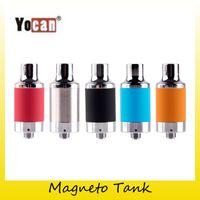 Wholesale Genuine Caps Wholesale - Original Yocan Magneto Wax Tank Atomizer For Yocan Magneto Kit Wax Vapor Pen kit with Magnetic Coil Cap 100% Genuine 2204039