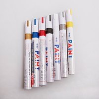 Wholesale Universal Paint - Brand New Universal Waterproof Permanent Paint Marker Pen Car Tyre Tire Tread Rubber Metal Art Plastic Comfortably To Use