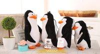 Wholesale Madagascar Set - hot 4pcs set plush toys Madagascar penguins eldest brother novice doll Valentine's Christmas Gift Dolls gifts