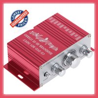 Wholesale dvds sale resale online - Freeshipping New Design Red Hot Sale Red Handover Hi Fi Car Stereo Amplifier Support CD DVD MP3 Input