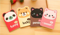Cute Notebook Animal Paper Note Mini Note Book para estudantes Papel Notepad Stationary para Office Gato Panda Bear