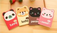 chats stationnaires achat en gros de-Notebook mignon Note de papier pour animaux Mini Note Book pour étudiants Paper Notepad Stationnaire pour Office Cat Panda Bear
