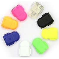 Wholesale Otg Cable Micro Usb Mini - Android Robot Shape Micro Mini USB OTG Adapter Reader Mini USB2.0 Micro SD TF For Cell Phone Tablet PC MP3 4