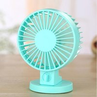 Wholesale Usb Ventilation Fan - USB Fan Creative Air condition ABS Mini Desk Fans For Home Office Electric Desktop Computer Fan With Double Side Fan Blades