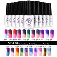 esmalte de uñas colores mezclados al por mayor-Al por mayor-Sexy Mix Gel Nail Polish Color que cambia la temperatura UV Gelpolish 25 colores 7ML Soak off UV Gel Polish para el diseño del arte del gel del clavo