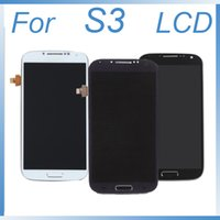 per Samsung Galaxy S3 i9300 Touch Screen Panel Digitizer Sensor Vetro + Display LCD Monitor Panel Module Assembly + Frame S3 LCD Screen