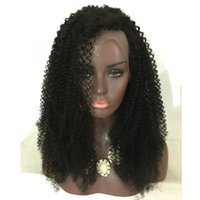 Wholesale Cheap Human Hair Afro Wigs - Glueless Afro curly Full Lace Human Hair Wigs Lace Front Wigs For Black Women Afro Kinky Curl Natural Cheap Hair Wig