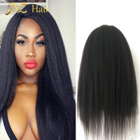 Wholesale Natural Hair Line Full Lace - JYZ Kinky Straight Wig Mongolian Hair Glueless Full Lace Wig Curly Wigs Lace Front Wigs With Natural Hair Line Bleached Knots Baby Hair