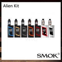 Wholesale Alien Top - SMOK Alien Kit With 220W Alien 220 Mod Firmware Upgradeable 3ml TFV8 Baby Tank Top Refill System 100% Original