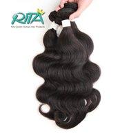 Wholesale beauty queen human hair - 1Pc Brazilian Virgin Hair Body Wave 100% 7A Unprocessed Human Hair Weaving Queen Weave Beauty Natural Black Cheap Hair Weft