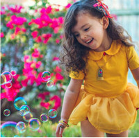 Wholesale Doll Clothes Skirt - Baby girls romper fashion INS toddler kids cotton doll collar romper summer kids splicing gauze petal skirt jumpsuits baby clothing T3115
