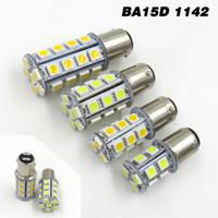 Wholesale 12v Ba15d Led - BA15d 1142 1076 1176 High Bright Car LED Bulb 2W 3W 4W 5W 13 18 24 30 5050 SMD LED AC DC12V 24V 28V White Warm (Pack of 2)