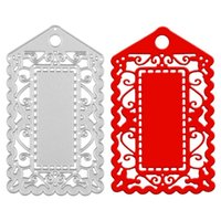 Wholesale Metal Albums - Luggage Tag New Metal Cutting Dies Stencil for DIY Scrapbooking Photo Album Paper Card Craft Template