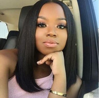 Hot Sale Peruvian Virgin Human Hair Full Lace Wigs Partie moyenne Lace Front Peruvian Wigs With Baby Hair Long Bob Wig