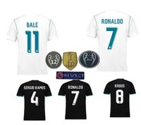 2018 Champions League versione giocatore Soccer Jersey 2017/18 Real Madrid Home away 3 Soccer Maglie 17 18 Ronaldo ASENSIO Football Jeresys