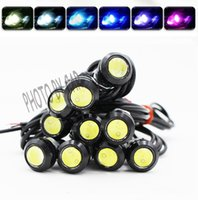 Led Car Eagle Eye Light 9W 18mm 12V Bianco Auto Nebbia DRL Luci di stop a LED di retromarcia per parcheggio diurno