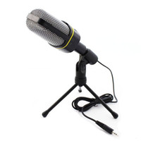 Wholesale Microphone Mounts - Professional Condenser Home Audio Studio Sound Recording Microphone 3.5mm Jack MIC Shock Mount for Skype Desktop PC Notebook Computer