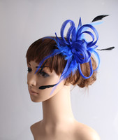 Wholesale sinamay cocktail hat - 17 color fascinating sinamay material fascinator headpiece show cocktail headwear church hat Wedding Hair Jewelry suit for all season MYQ106
