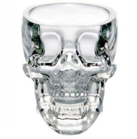 Wholesale Whiskey Glasses Stones - 2017 Hot Sales New Crystal SKULL Head Vodka Whiskey Shot Glass Cup Drinking Ware Home Bar Cup Mug EHO TOP1770