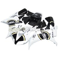 Wholesale Lucky Strike Motorcycle Fairings - Lucky Strike White Injection ABS Fairings For Yamaha YZF 1000 R1 Year 2002 2003 02-03 Motorcycle Kit Bodywork Cowling Carenes