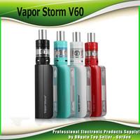 Wholesale Vapor Storm - Original Vapor Storm V60 TC Starter Kits 60W 2200mah 2.5ml EC II Tank 0.3ohm Coil Top Filling 510 Thread Atomizer 100% Authentic 2239008