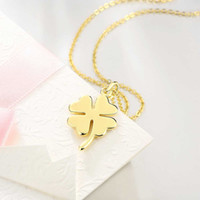 Wholesale Romance Box - Statement necklaces & pendants silver necklace for women brand jewelry for girls accessories Romance Clover with gift box NK-132