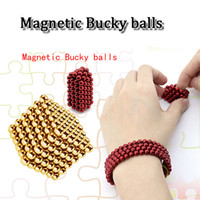 Wholesale 5mm Bucky Ball - colorful 5mm 216 magnetic ball Magneticl bucky balls Neocube neodymium Toy Neo ball Puzzle Toy for 8-16years old child adulst decompression