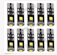 Wholesale W5w Cree Led - 100PCS T10 3SMD CANBUS CREE Error free 194 168 W5W Cree LED 3 SMD Led Wedge light 12V