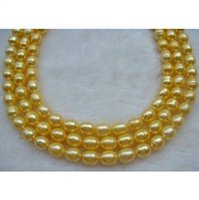 """Wholesale Huge Golden South Sea Pearls - +48"""" huge AAA12-13mm Natural golden south sea baroque pearl necklace 14k"""