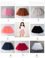 Wholesale blouse skirts - 8 color INS baby short skirt Four layer grenadine skirtBaby Girls TUTU Skirts 2016 Summer Pettiskirt for Kids Children Short Party Skirt