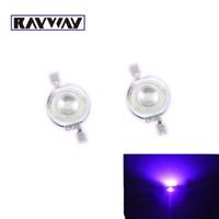 epistar 45mil led al por mayor-10 unids / lote 45mil Epistar 3W UV Lámpara LED Granos Púrpura LED de alta potencia LED diodos emisores de luz 395NM -405NM 140 grados Fuente de luz