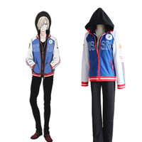 Wholesale Yuri Costume - Yuri Plisetsky cosplay costumes Japanese anime Yuri on Ice clothing Masquerade Mardi Gras Carnival costumes supply from stock