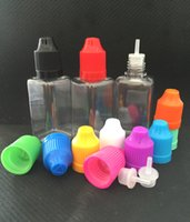 Wholesale Square E Cig - Square Bottles E Cig Oil Bottle 10ml 30ml PE PET Empty Dropper bottles with Child Proof Caps For e-liquid e-juice Fedex Free Shipping