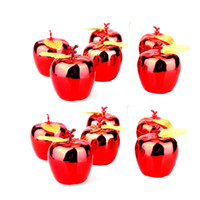 Wholesale Gilded Christmas Decorations - Wholesale-12 Pieces Christmas Supplies Apple Gilded Christmas Tree Ornaments Hanging Christmas Decoration Wholesale Funny Novelty Toys