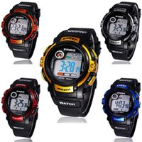 Wholesale Boys Sports Dive Watch - 2017 fashion Jelly LED Watch Super dive Waterproof outside sport cartoon watches boys girl's Children's Digital Watches